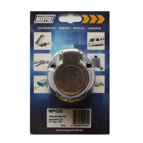 Aluminium 12N 7 Pin Replacement Socket
