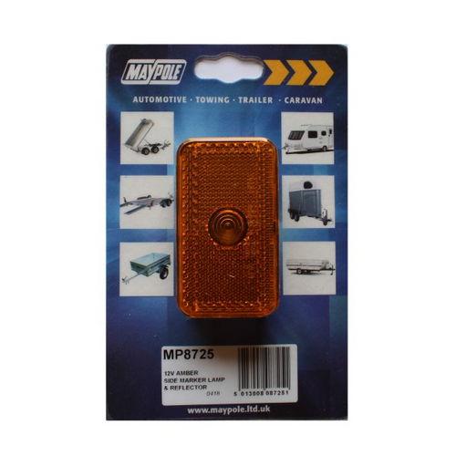 12v Amber Side Marker Lamp & Reflector