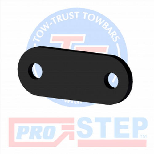 8mm Steel Black E-coated Spacer Plate