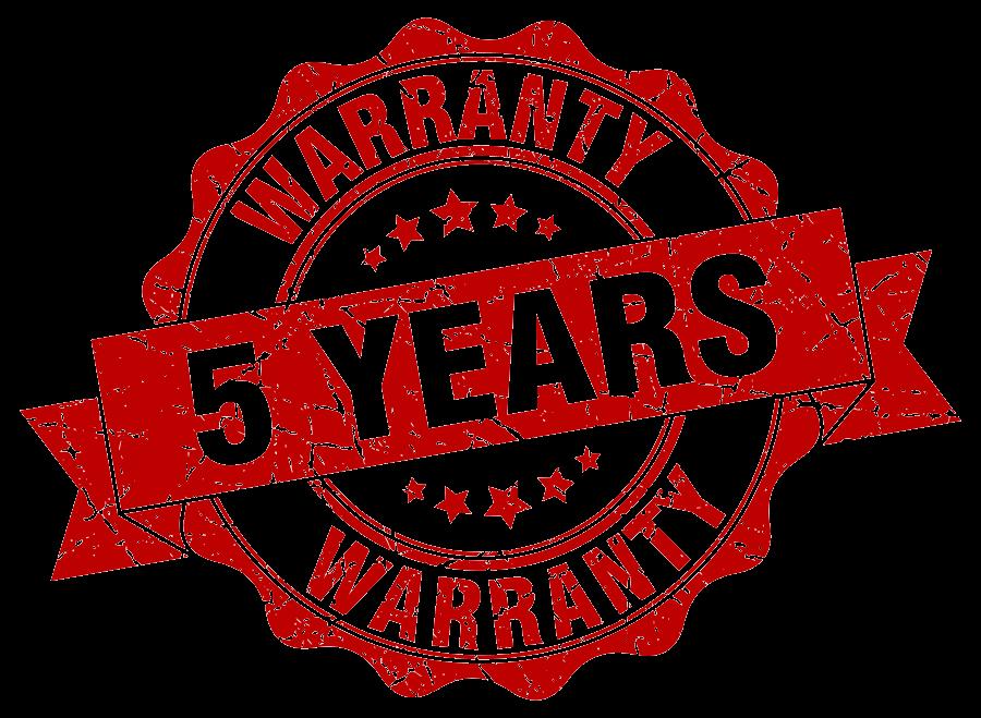 5 Year Warranty Badge